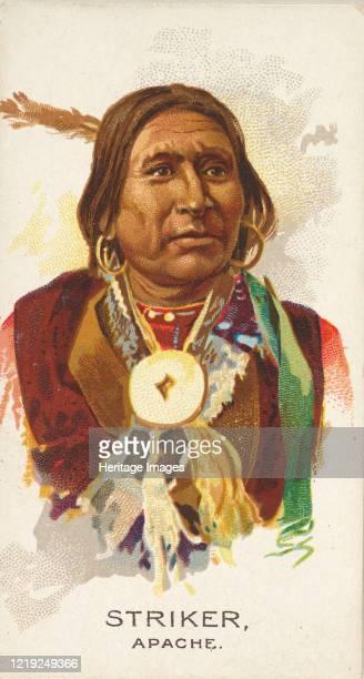 Striker, Apache, from the American Indian Chiefs series for Allen & Ginter Cigarettes Brands, 1888. Artist Allen & Ginter.