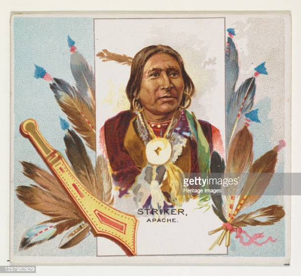 Striker, Apache, from the American Indian Chiefs series for Allen & Ginter Cigarettes, 1888. Artist Allen & Ginter.