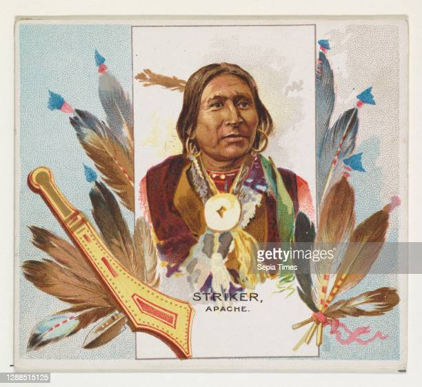 Striker, Apache, from the American Indian Chiefs series for Allen & Ginter Cigarettes Commercial color lithograph, Sheet: 2 7/8 x 3 1/4 in. , Trade...