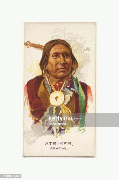 Striker, Apache, from the American Indian Chiefs series for Allen & Ginter Cigarettes Brands Commercial color lithograph, Sheet: 2 3/4 x 1 1/2 in. ,...