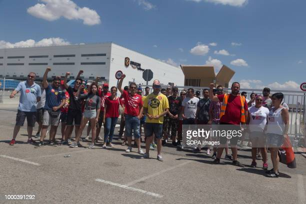 Strikers protest at one of the warehouse truck entrances during the strike The works council called a threeday strike after a meeting without any...