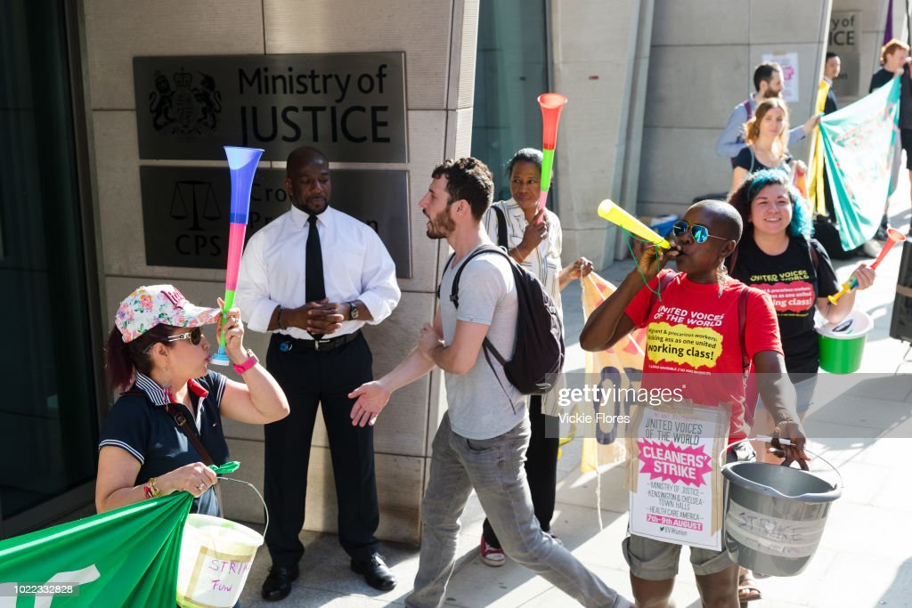 Cleaners Strike In London : News Photo