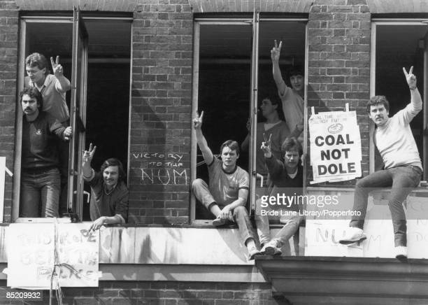 Striking miners occupy the NCB headquarters in London in protest against the arrest of union leader Arthur Scargill at Orgreave 30th May 1984 They...