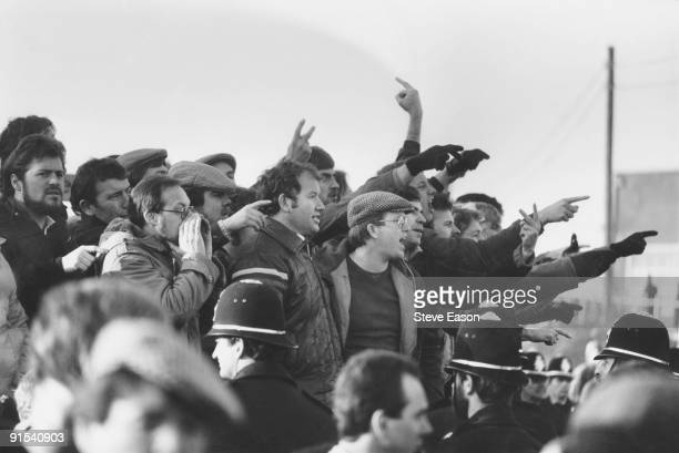Striking miners picketing at Tilmanstone Colliery in Kent March 1985 By the end of the year all of Kent's mines had been closed