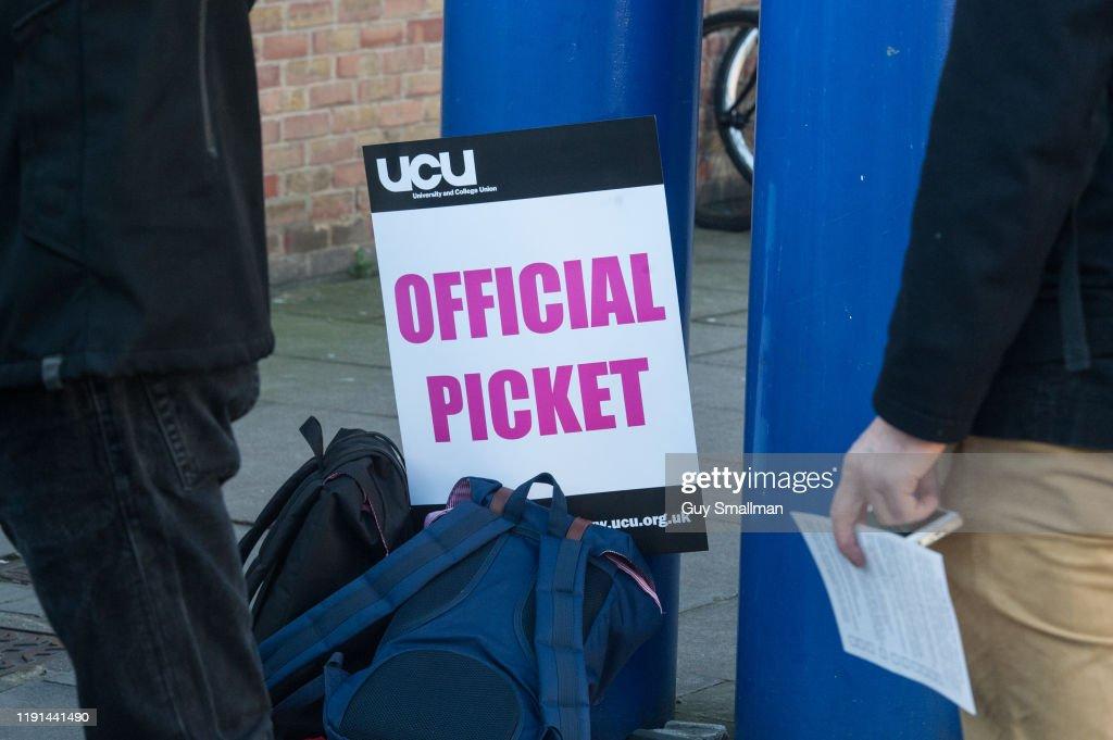 UCU Trade Union Holds Series Of National Strikes : News Photo
