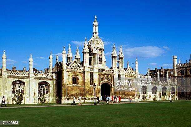 Striking view of Kings College, Cambridge, England