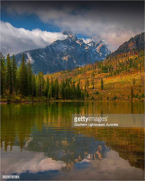 String lake during the Autumn season, a lovely small lake in the Grand Teton National Park, Wyoming, USA.