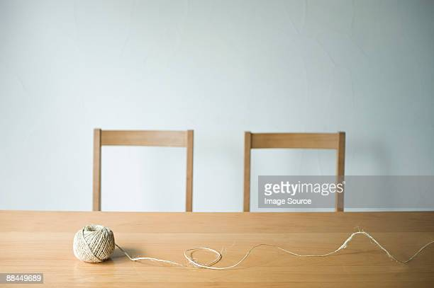 String on a table