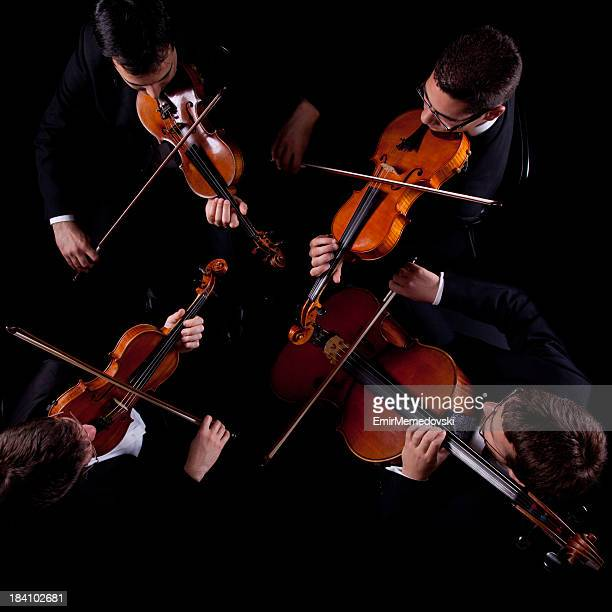 string quartet - musical quartet stock photos and pictures