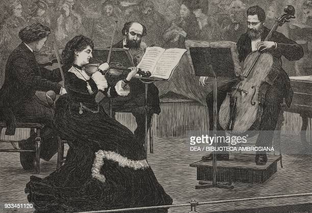 String Quartet the Monday popular concerts United Kingdom illustration from the magazine The Illustrated London News volume LX volume LX March 2 1872