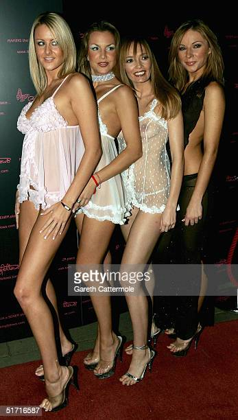 Stringfellow girls attend a party at lap dancing club Stringfellows to celebrate the launch of its website on November 10 2004 in London