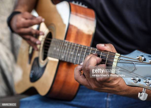 Strings Guitar and Hand