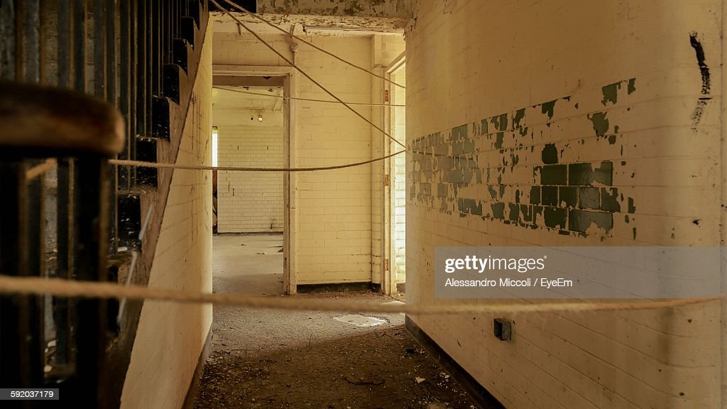Strings In Abandoned Building : Stock Photo