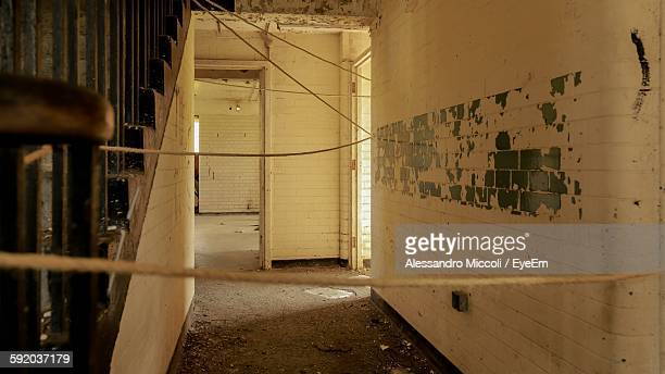 strings in abandoned building - alessandro miccoli stockfoto's en -beelden