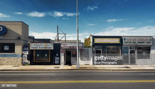Strip mall along Pacific Avenue in Atlantic City, New Jersey