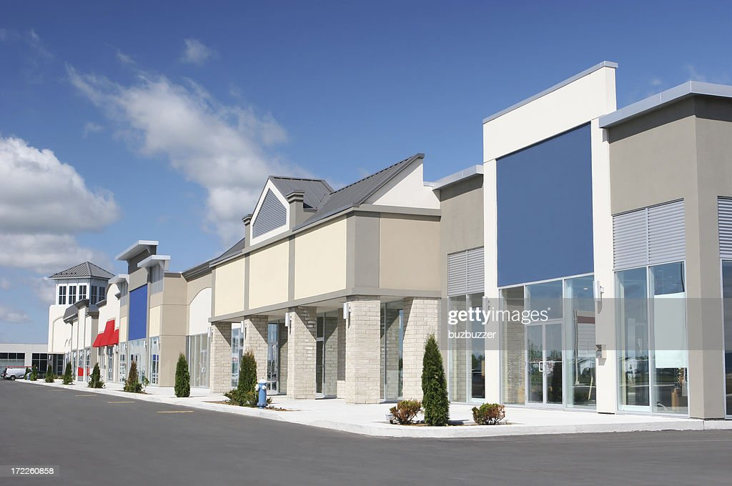 Strip Mall Store Building Exteriors : Stock Photo