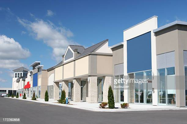 Strip Mall Store Building Exteriors