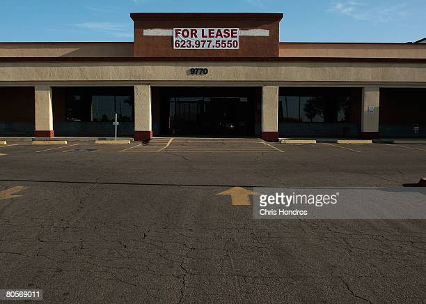 Strip mall store sits empty April 7, 2008 in Ontario, California. The area has been hard-hit by the national housing meltdown, with related...