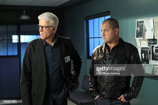 Strip Maul Something as the attention of both DB Russell and Nick Stokes in this scene on CSI CRIME SCENE INVESTIGATION Wednesday Nov 28 on the CBS...