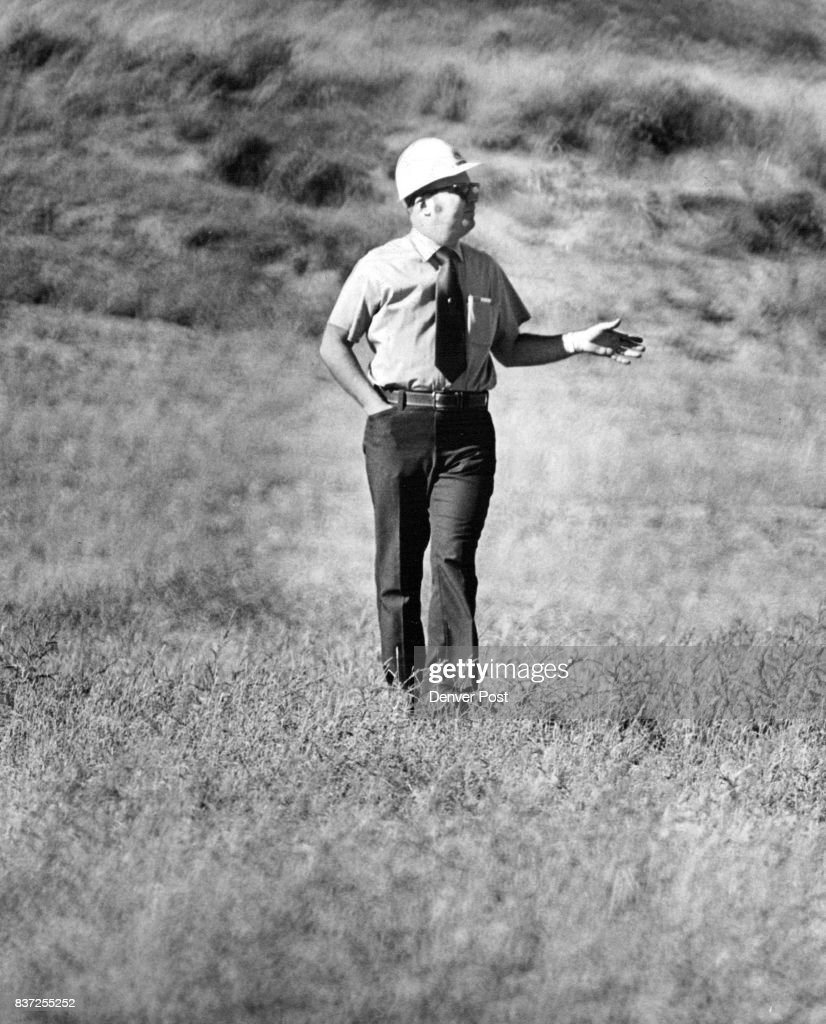 Denver post archives pictures getty images strip mining reclaiming land morris t worley exxon highland uranium mine manager publicscrutiny Images