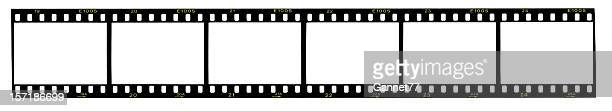 strip of 35mm film, blank frames - film stock pictures, royalty-free photos & images