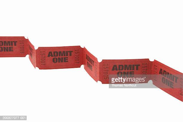 Strip of admission tickets