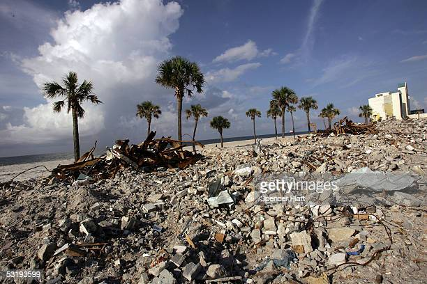 A strip of beach which was heavily damaged during Hurricane Ivan July 4 2005 in Pensacola Florida Nine months after Hurricane Ivan made landfall here...