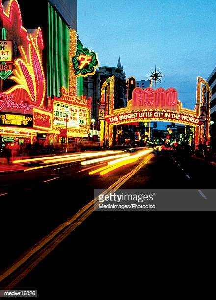 Strip of casinos in Reno, Nevada, USA