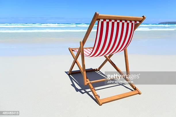 Striped canvas beach chair