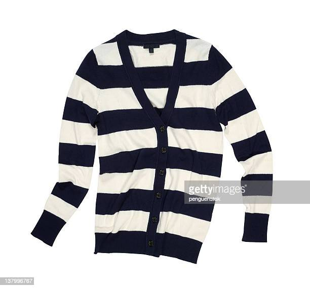 Striped cardigan in black and white