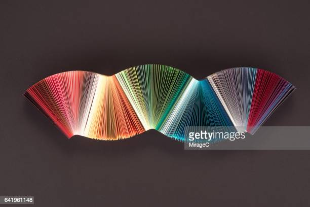 Striped Colorful Paper Wave