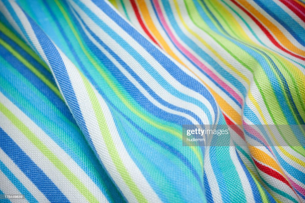 Striped knit fabric background textured : Stock Photo