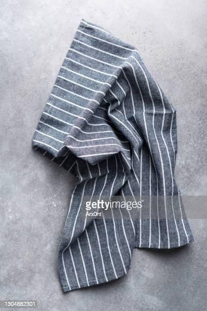 striped linen kitchen textile - trapo de cocina fotografías e imágenes de stock