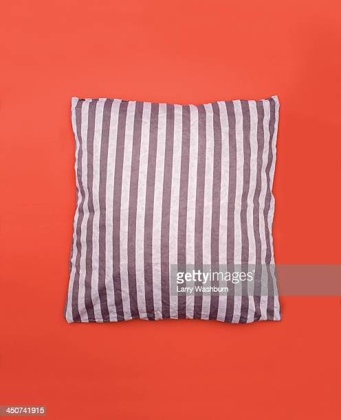 striped pillow - cushion stock photos and pictures