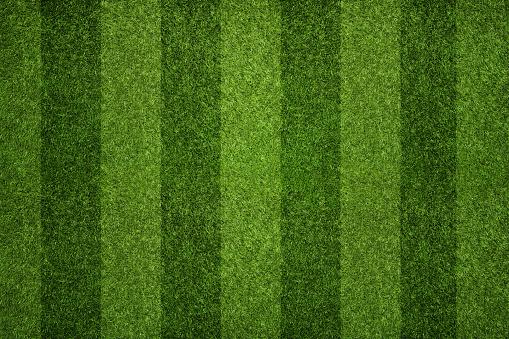 Striped soccer field 472347896