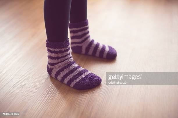 striped socks - girls open legs stock photos and pictures