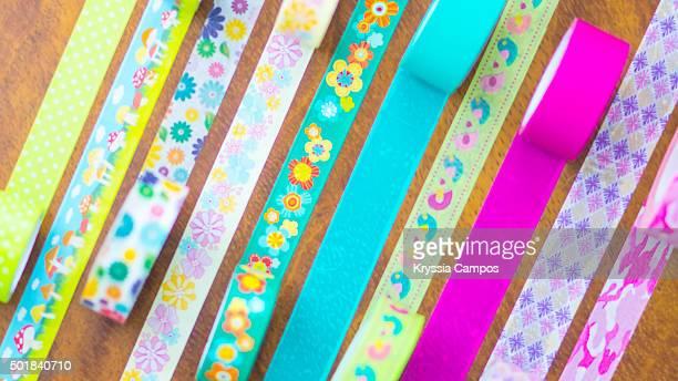 Stripes of decorative masking tape