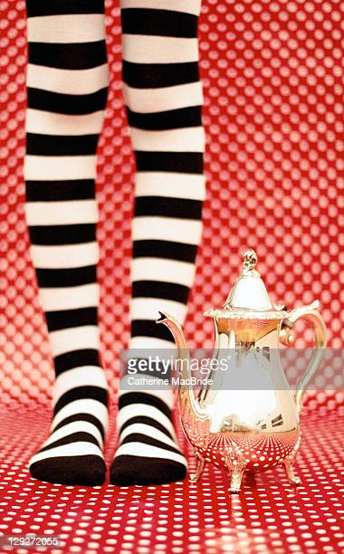 stripes socks and teapot - catherine macbride 個照片及圖片檔