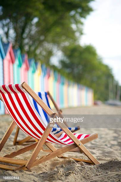 stripey deckchairs