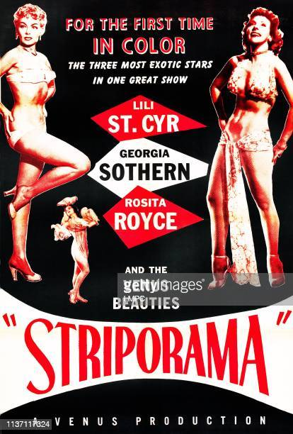 Lili St Cyr Georgia Sothern on poster art 1953