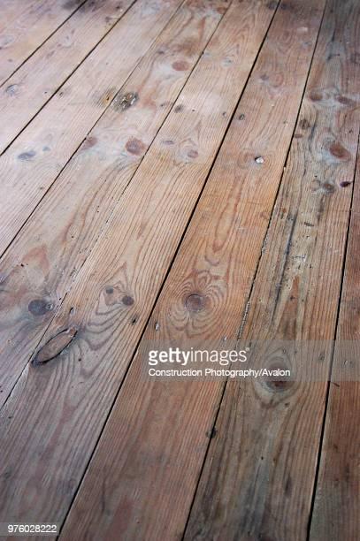 Stripped floorboard