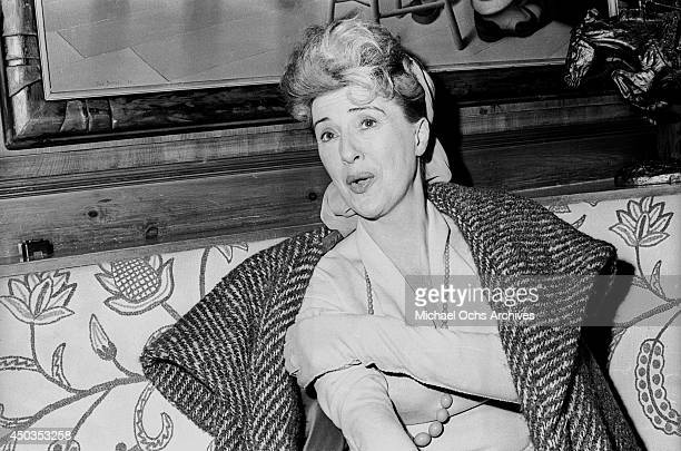 Stripper actress and author Gypsy Rose Lee poses for a photo at Club 21 on January 12 1966 in New York City New York