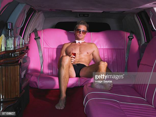 Stripper sat in limousine