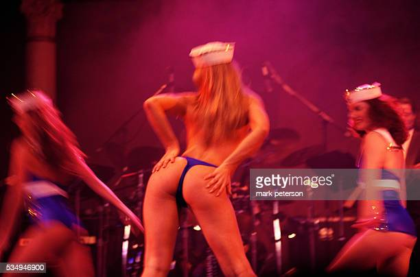 Strippers dance at the Adult Video Awards sponsored by an adult video news magazine