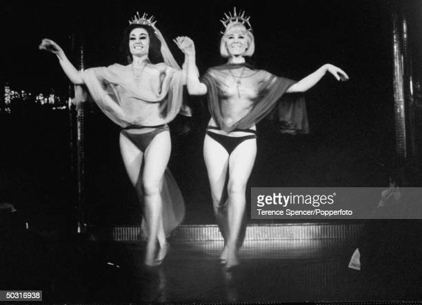 Strippers performing excerpts from Shakespeare's plays during a 400th Anniversary tribute to him at the Casino de Paris Club on Denman Street Soho...