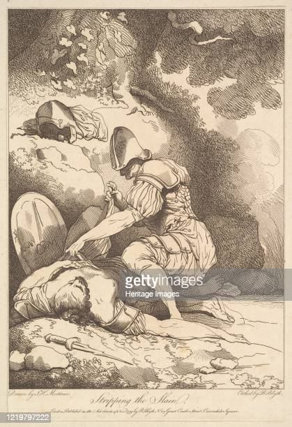 Stripping the Slain November 15 1779 After John Hamilton Mortimer Artist Robert Blyth