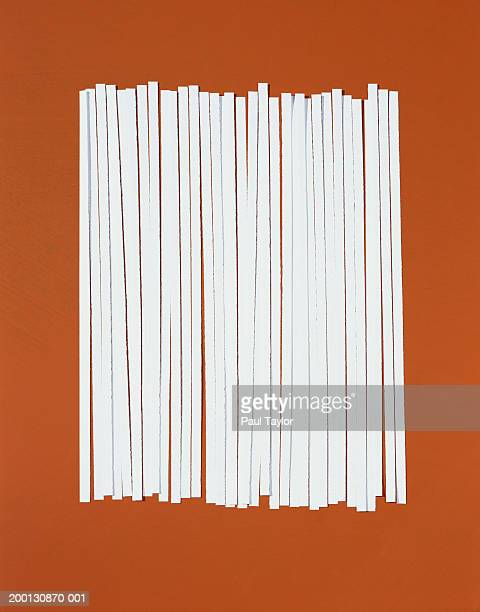 strips of shredded paper in row - shredded stock pictures, royalty-free photos & images