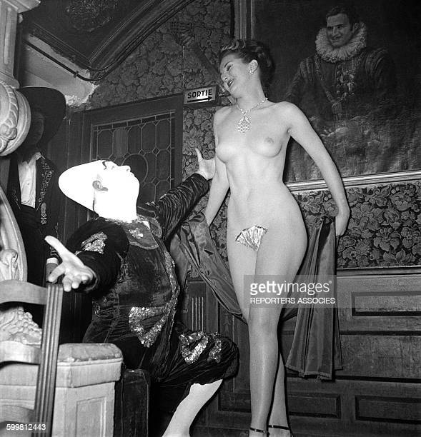 Striptease in a Parisian Cabaret in Paris France circa 1950