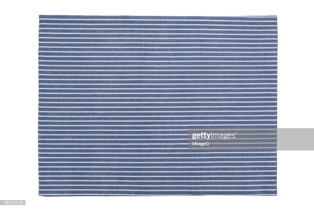 Stripy Placemat on White : Stock Photo