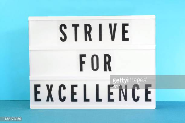 strive for excellence - lightbox stock pictures, royalty-free photos & images